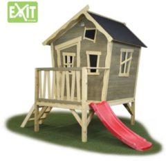 EXIT Crooky 300 houten speelhuis grijs-beige