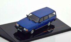 Blauwe Volvo 240 Polar 1988 - 1:43 - IXO Models