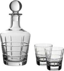 Transparante Villeroy & Boch Ardmore Club whisky karaf met glas set van 3
