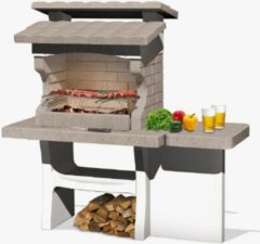 Witte Sarom Fuoco - Betonnen barbecue - Luxor - Houtskool en hout - 159 x 72 x 161,5 cm