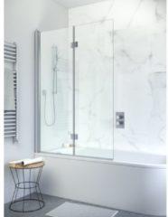 Zilveren Simpsons Design New badwand 2 delig 106x150cm met scharnieren helder glas DBVSC1060+