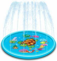 Blauwe Femur®️ - Water Fontein - Opblaasbare Waterspeelmat - Verkoeling - Ook Leuk Voor de Hond - Water Speelmat - Speelkleed Aquamat - Speelgoed - Watermat - 170CM