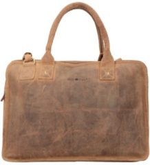 Vintage Aktentasche Leder 41 cm Laptopfach Greenburry nut brown