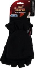 Heat Keeper Thermo heren thinsulatie fleece handschoenen/wanten zwart - L/XL