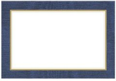 Blauwe Caspari Tafelkaartjes Moiré Darkblue