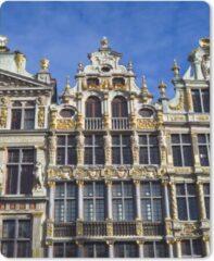 MousePadParadise Muismat Grote markt Brussel - Gouden facade op de Grote Markt in Brussel muismat rubber - 19x23 cm - Muismat met foto