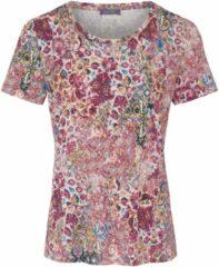 Shirt met ronde hals en ornamentenprint Van MYBC roze