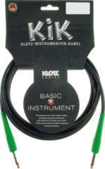 Klotz Instrumentenkabel 3m zwart KIK-Colourood fresh green