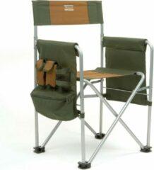 Groene Shakespeare Directors Chair - Visstoel met armleuningen - inclusief zijvakken