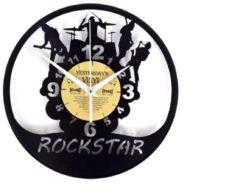 Yesterdays Vinyl Klok gemaakt van een echte LP - Rockband - Met geschenkverpakking - Vinyl