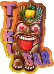 Asign4u Tiki Bar Tikibar shaped wandbord