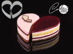 "Roestvrijstalen Martellato Cake-Idea Bakringenset ""Heart"""