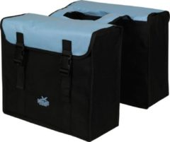 Greenlands - Dubbele Fietstas - 34 Liter - Zwart;Blauw