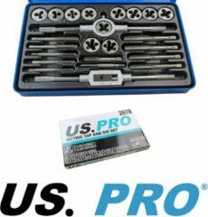 US.PRO Tools by Bergen Tap- en snijmoerenset M5 t/m M12 metrisch 24-delig