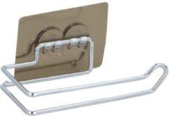 Zilveren Alpina Toiletrolhouder hangend - Zonder boren - Wcrolhouder - RVS - Zuignap