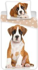 Nightsrest Kids Dekbedovertrek met Hond Boxer Puppy - 1-Persoons - 140 x 200 + 70 x 90 cm - Multi