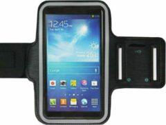 ADEL Sportarmband 5.5 Inch Microfiber Hoesje voor Wiko View 3 Pro - Zwart