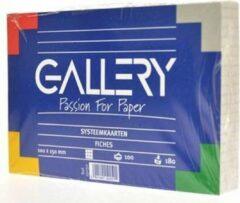 Gallery witte systeemkaarten formaat 10 x 15 cm geruit 5 mm pak van 100 stuks