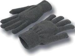 Merkloos / Sans marque Gebreide grijze handschoenen voor volwassenen