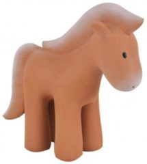 Bruine Tikiri Bijt- En Badspeeltje Met Rammelaar Paard Junior 12 Cm