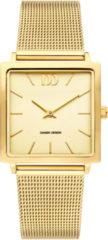 Gouden Danish Design watches edelstalen dameshorloge Miami All Gold Mesh IV06Q1248