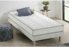 Witte UNELMA matras + boxspringset 90 x 190 - 5 zones en vormgeheugen - 16 cm - DEKO DREAM