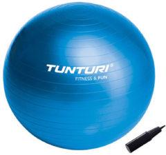 Tunturi Fitnessbal - Gymball - Swiss ball - Ø 75 cm - Inclusief pomp - Blauw