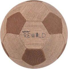 Waboba Voetbal Rewild 23,5 Cm Jute/rubber Bruin