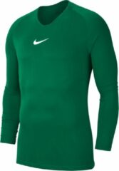 Nike Park Dry First Layer Longsleeve Thermoshirt - Maat L - Mannen - groen/wit