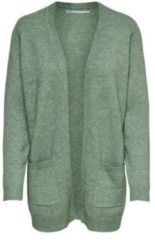 Groene ONLY Open Knitted Cardigan Dames Green