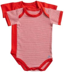 Rode Ten Cate Baby 2Pack Romper Stripe/Flame Scarlet-62/68