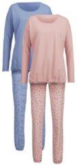 Schlafanzug Harmony altrose/jeansblau