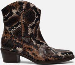 Bruine Gabor Cowboylaarzen slangenprint - Maat 37.5