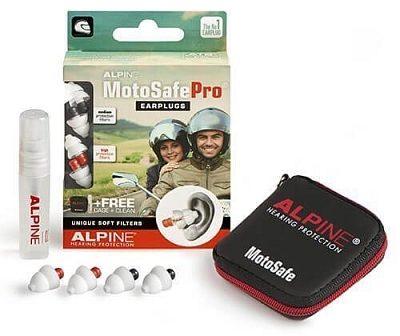 Afbeelding van Alpine Hearing protection Alpine MotoSafe Pro - Motor oordoppen - Gehoorbescherming Race en Tour - Wit - 2 sets