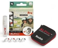 Alpine Hearing protection Alpine MotoSafe Pro - Motor oordoppen - Gehoorbescherming Race en Tour - Wit - 2 sets