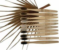 Beige Bamboe tandenborstel | Zacht | 10 stuks | Biologisch afbreekbaar | Bruin | Maison Boho