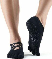 Toe Sox Antislip Sokken Elle Met Tenen Zwart - ToeSox