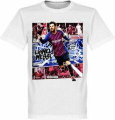 Merkloos / Sans marque Messi Barcelona Comic T-Shirt - Wit - XL