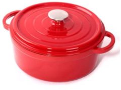 Rode Cuisinova gietijzeren braadpan - Ø 28 cm - 5,5 l - rood