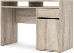Hioshop Fula bureau 2 vakken, 1 lade en 1 deur truffelkleurig decor.