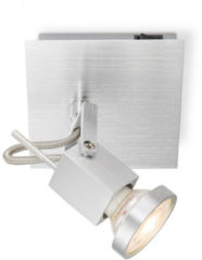 Home sweet home LED opbouwspot Cali ↔ 11,5 cm - aluminium