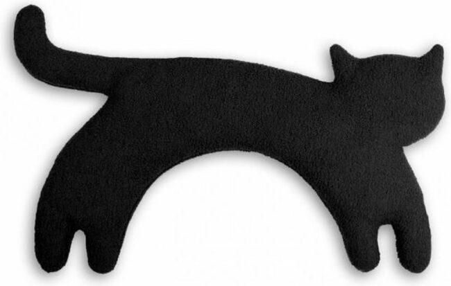 Afbeelding van Leschi Nek Warmtekussen - Minina de Kat - zwart