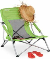 Relaxdays strandstoel - opvouwbaar - campingstoel - tuinstoel - visstoel - licht groen