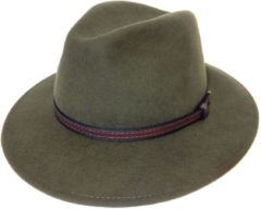 Groene MGO Leisure Wear Wood Felt Hat / Olive / 57