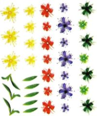 YOUNG NAILS YOU Nails-Nail Art-Tattoo-Nail Design Nagelsticker - bloemen - verschillende stickers