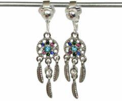 Turquoise MNQ bijoux - Clipoorbellen - Oorclips - Kind - Meisje - Dromenvanger - Glitters - Roze - Hangoorbellen
