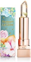 GLAMFOX Emerald Flower Lipstick met 100% echte Smaragd Groene Bloem en 24 Karaat Goud Poeder Lippenstift - Korean Makeup - Lip Plumping - Lip Plumper Botox - Make Up - Lippenstift Langhoudend