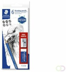 Potlodenset Staedtler Design Journey Lumograph met gratis gum en puntenslijper