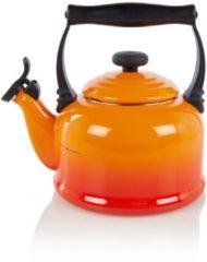 Rode Le Creuset Tradition Fluitketel - 2.1 liter - Oranje/Rood
