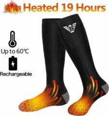 Zwarte KW® Verwarmde Sokken Heren en Dames | Maat L elektrisch verwarmde sokken | Heated socks (Skisokken, Sportsokken, Wintersokken) | Batterijgevoede sokken voor kamperen | Vissen fietsen motorrijden skiën
